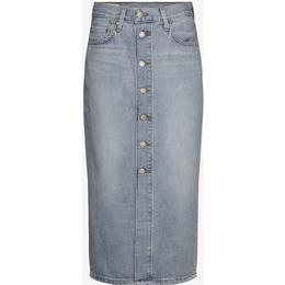 Levi's Button Front Midi Skirt - Blue Cell/Light Wash