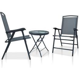 vidaXL 3054571 Café Group, 1 Table inkcl. 2 Chairs