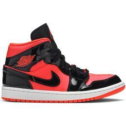 Nike Air Jordan 1 Mid W - Bright Crimson/Black