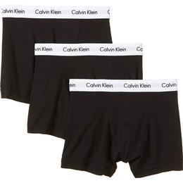 Calvin Klein Cotton Stretch Trunks 3-pack - Black