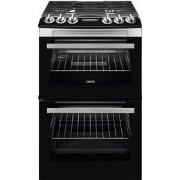 Zanussi ZCG43250XA Black, Stainless Steel