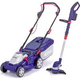 Spear & Jackson 34cm Cordless Lawnmower and Trimmer combo
