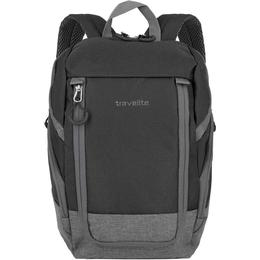 Travelite Basics Backpack - Black/Grey