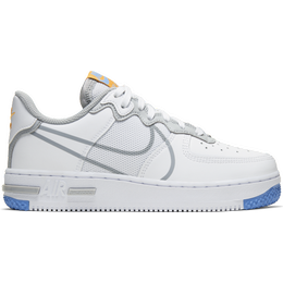 Nike Air Force 1 React GS - White/University Gold/University Blue/Light Solar Flare Heather