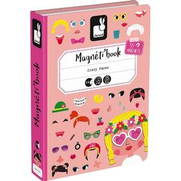 Janod Girl's Crazy Faces Magneti'Book