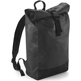BagBase Tarp Roll-Top Backpack - Black