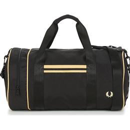 Fred Perry Twin Tipped Barrel Bag - Black/Champagne