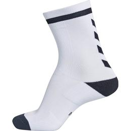 Hummel Elite Indoor Low Socks - White/Black