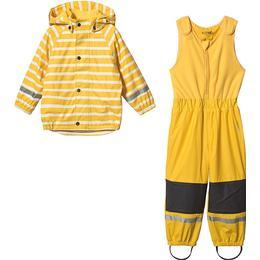 Kuling Ottawa Lined Rain Set - Sunshine Yellow Stripe