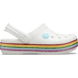 Crocs Kid's Crocband Rainbow Glitter - White