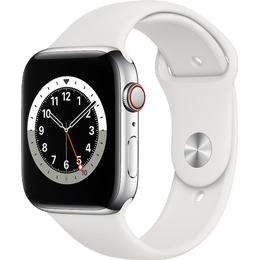 Apple Watch Series 6 Cellular 44mm Stainless Steel Case with Sport Band
