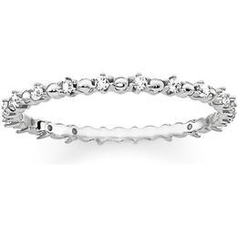 Thomas Sabo Dots Ring - Silver/Transparent