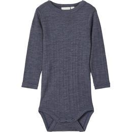 Name It Baby Merino Wool Romper - Blue / Ombre Blue (13175309)