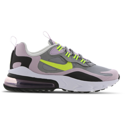 Nike Air Max 270 React GS - Particle Grey/Iced Lilac/Off Noir/Lemon Venom