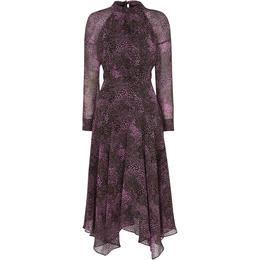 Whistles Snake Print Carlotta Dress - Pink/Multi