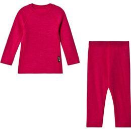 Reima Kinsei Kid's Wool Base Layer Set - Raspberry Pink (536446-4650)