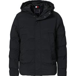 Tommy Hilfiger Padded Hooded Stretch Bomber Jacket - Black