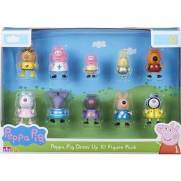 Character Peppa Pig Dress Up Figure 10 Pack