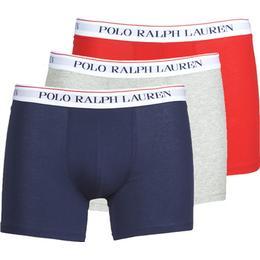 Polo Ralph Lauren Cotton Boxer Brief 3-pack - Navy/Red/Hthr