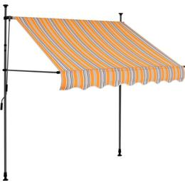 vidaXL Manual Retractable Awning with LED 100cm
