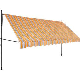 vidaXL Manual Retractable Awning with LED 400cm