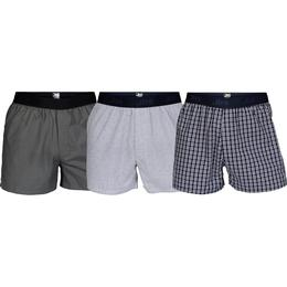 JBS Boxer Shorts 3-pack - Grey/White/Blue