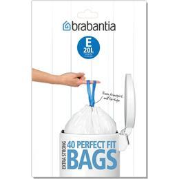 Brabantia Perfect Fit Bags Code E 20L 40-pack