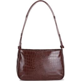 Adax Unlimit Kerry Croco Print Shoulder Bag - Dark Brown