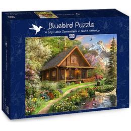 Bluebird A Log Cabin Somewhere in North America 500 Pieces