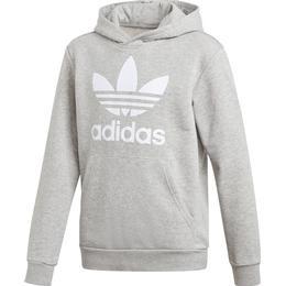 Adidas Junior Trefoil Hoodie - Medium Grey Heather/White (GE1979)