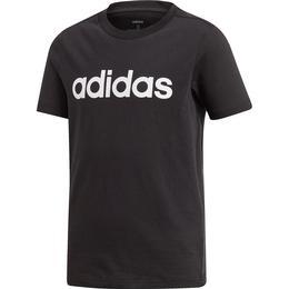 Adidas Boy's Essentials Linear Logo T-shirt - Black/White (DV1811)