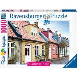 Ravensburger Scandinavian Places Houses in Aarhus Denmark 1000 Pieces
