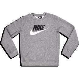 Nike Boy's Sportswear Club Fleece Crew - Carbon Heather ( CV9297-092)