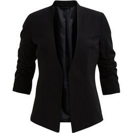Vila 3/4 Sleeved Formfitted Blazer - Black
