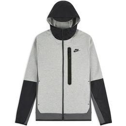 Nike Tech Fleece Woven Full Zip Hoodie Men - Dark Grey Heather/Iron Grey/Dark