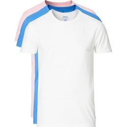 Polo Ralph Lauren Cotton Crew Neck T-shirt 3-pack - White/Blue/Pink