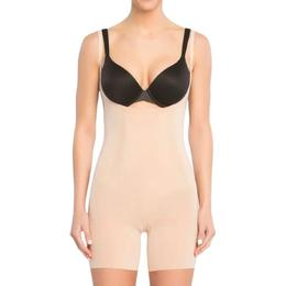 Spanx OnCore Open-Bust Mid-Thigh Bodysuit - Soft Nude