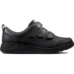 Clarks Youth Scape Sky - Black Leather