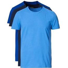 Polo Ralph Lauren Cotton Crew Neck T-shirt 3-pack - Navy/Blue/Light Blue
