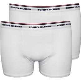 Tommy Hilfiger Boys Boxer Trunks Classic Logo 2-Pack - White/White (UW0UW00173 -902)