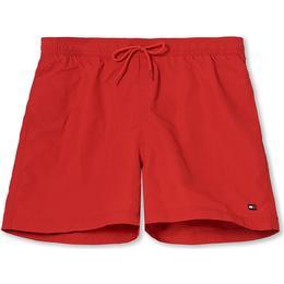Tommy Hilfiger Solid Medium Drawstring Swim Shorts - Primary Red