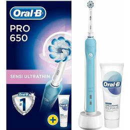 Oral-B Pro 650 Sensi Ultrathin + Toothpaste