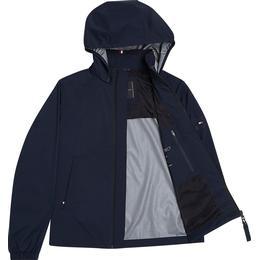 Tommy Hilfiger Concealed Hoodie High Neck Jacket -Desert Sky