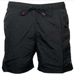 Tommy Hilfiger Drawstring Mid Length Slim Fit Swim Shorts - Black