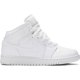 Nike Air Jordan 1 Mid GS - White