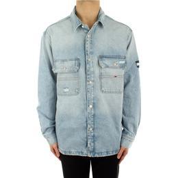 Tommy Hilfiger Recycled Cotton Denim Worker Jacket - Save Sp Lb Rgd Destr