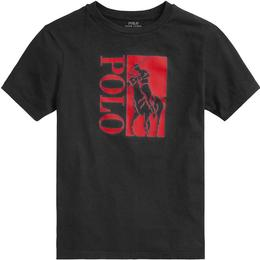 Ralph Lauren Big Pony Logo Cotton Jersey Tee - Black (569354)