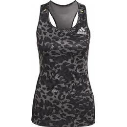 Adidas Fast Graphic Tank Top Women - Grey Four/Black/Multicolor