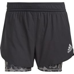Adidas Fast 2in1 Primeblue Graphic Shorts Women - Black/Grey Four