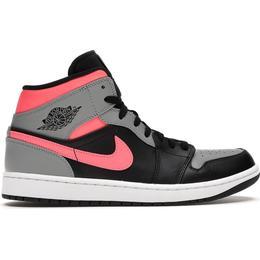Nike Air Jordan 1 Mid - Black/Hot Punch/Light Smoke Grey